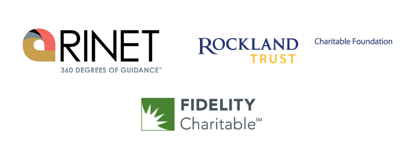 Rinet & Rockland & Fidelity trust logos