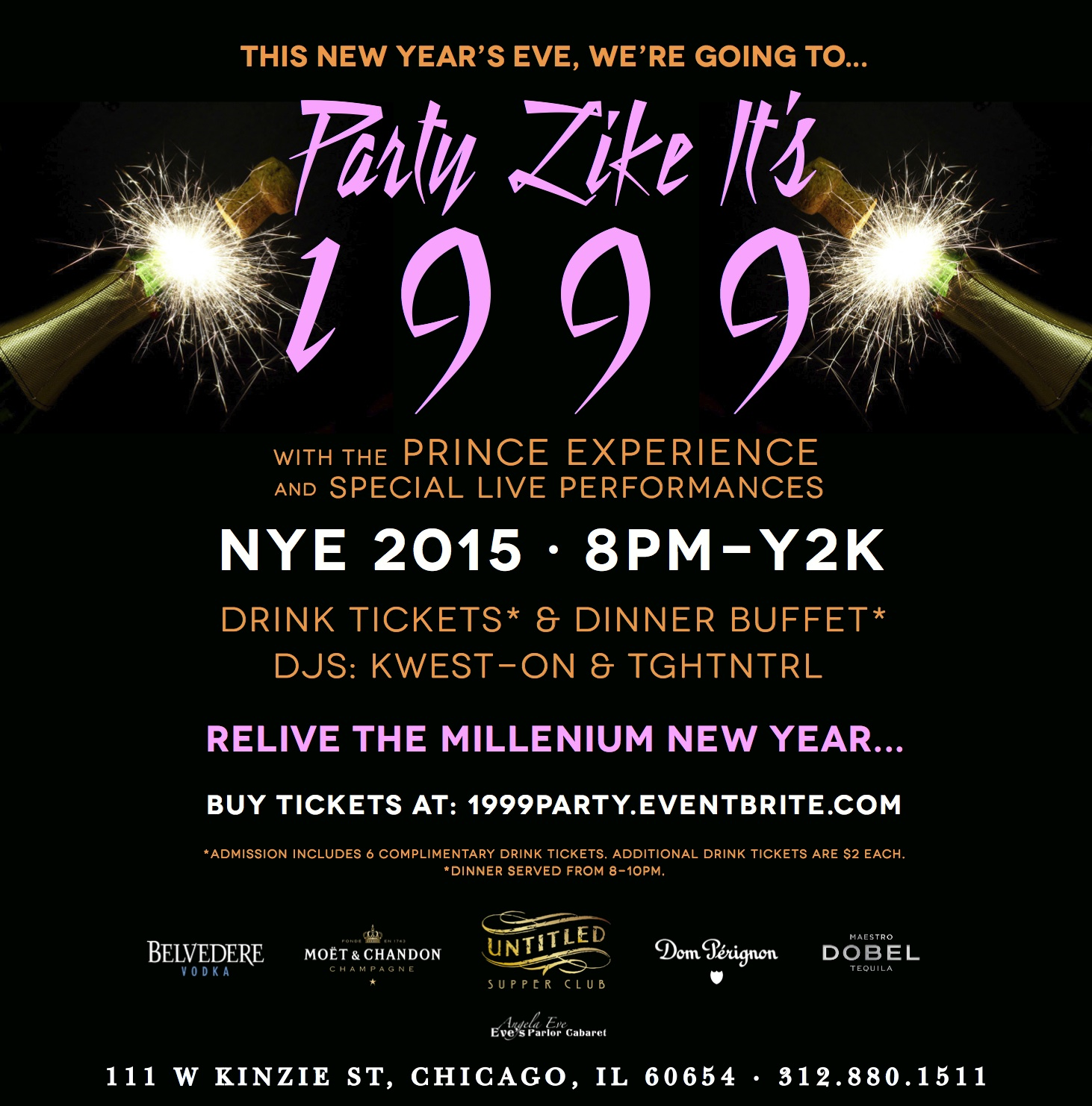 1999 Party NYE 2015 at Untitled