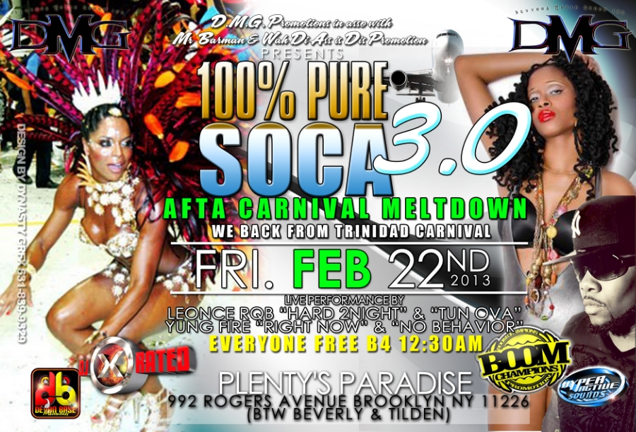 100% Pure Soca Feb Edition