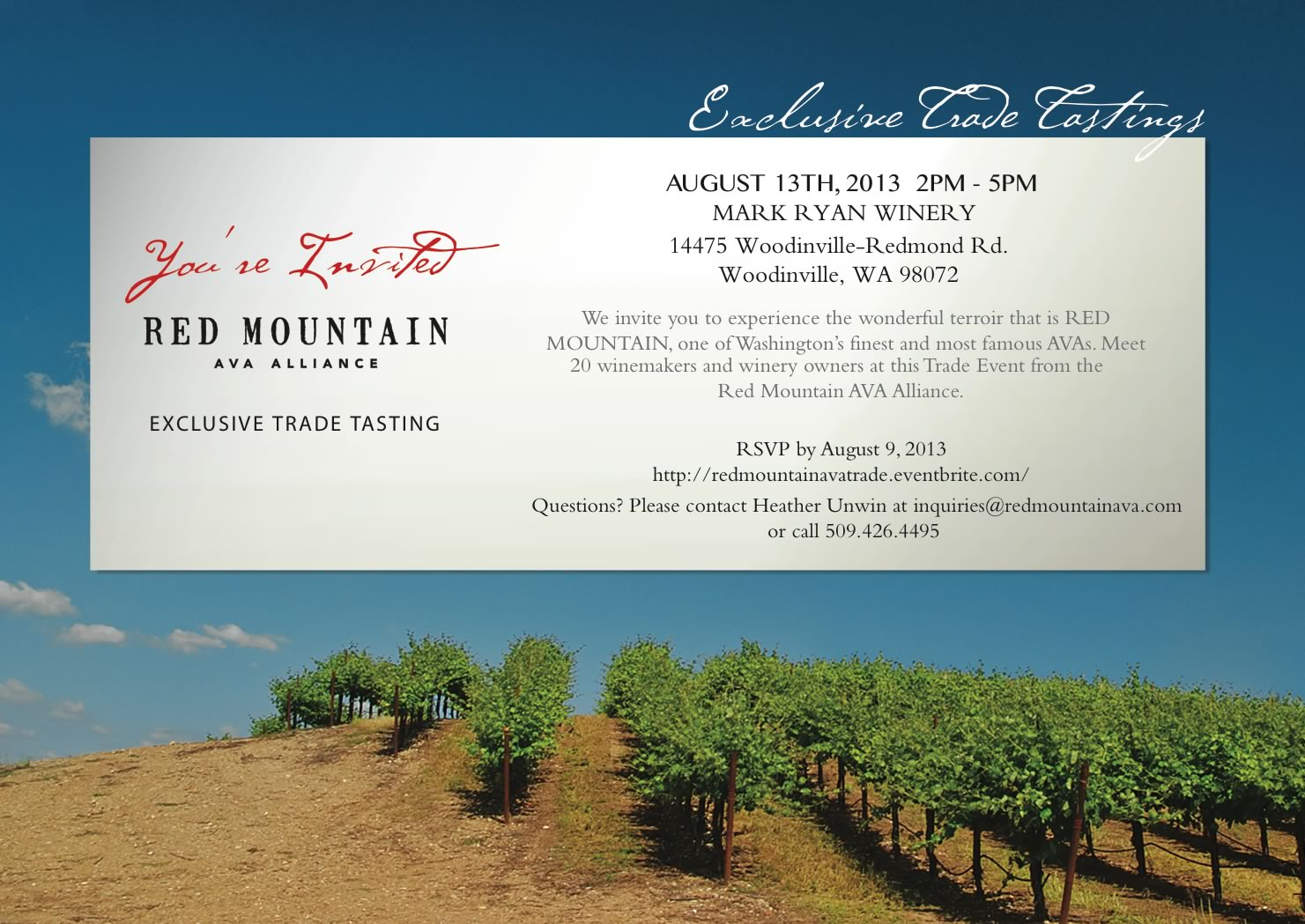 Red Mountain AVA Trade Tasting Mark Ryan Aug 13