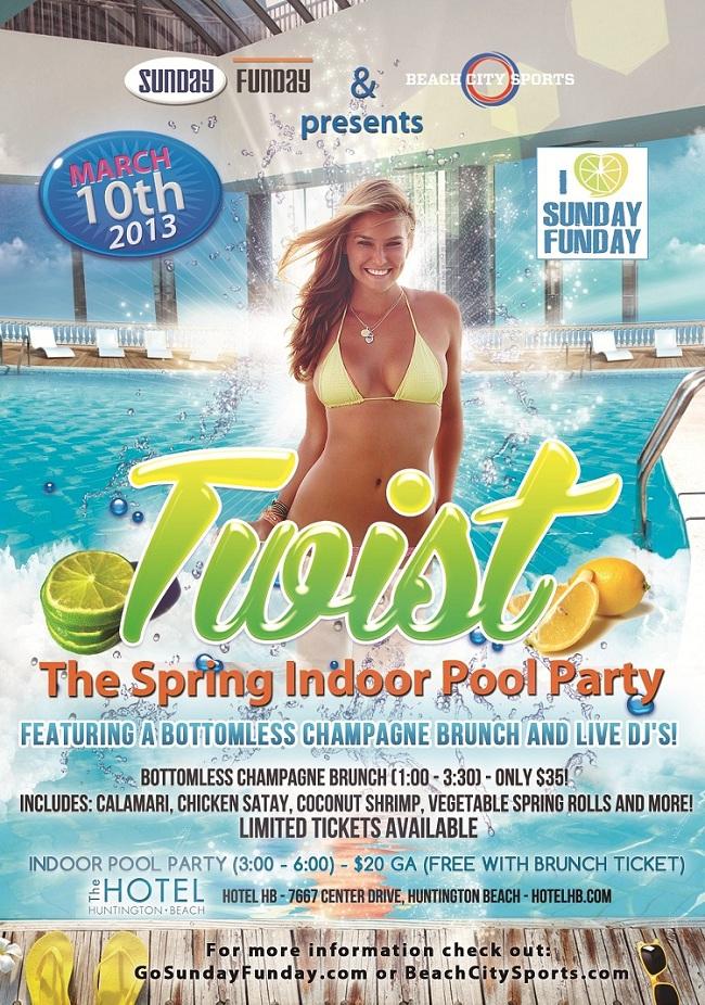 Indoor Pool Party Orange County