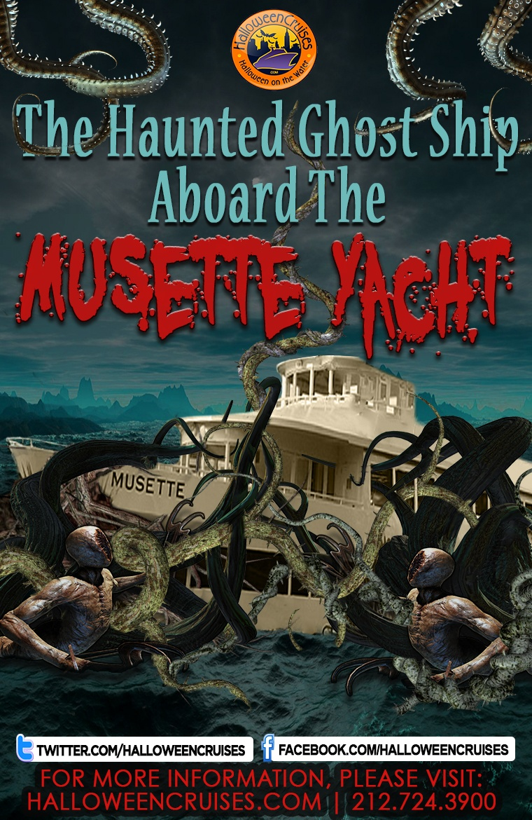 the haunted ghost ship aboard the musette yacht tickets, sat, oct 27