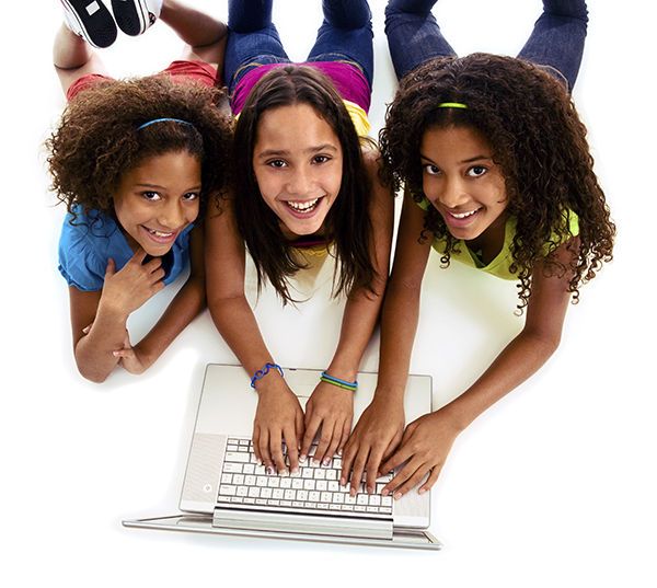 Girls with Computer