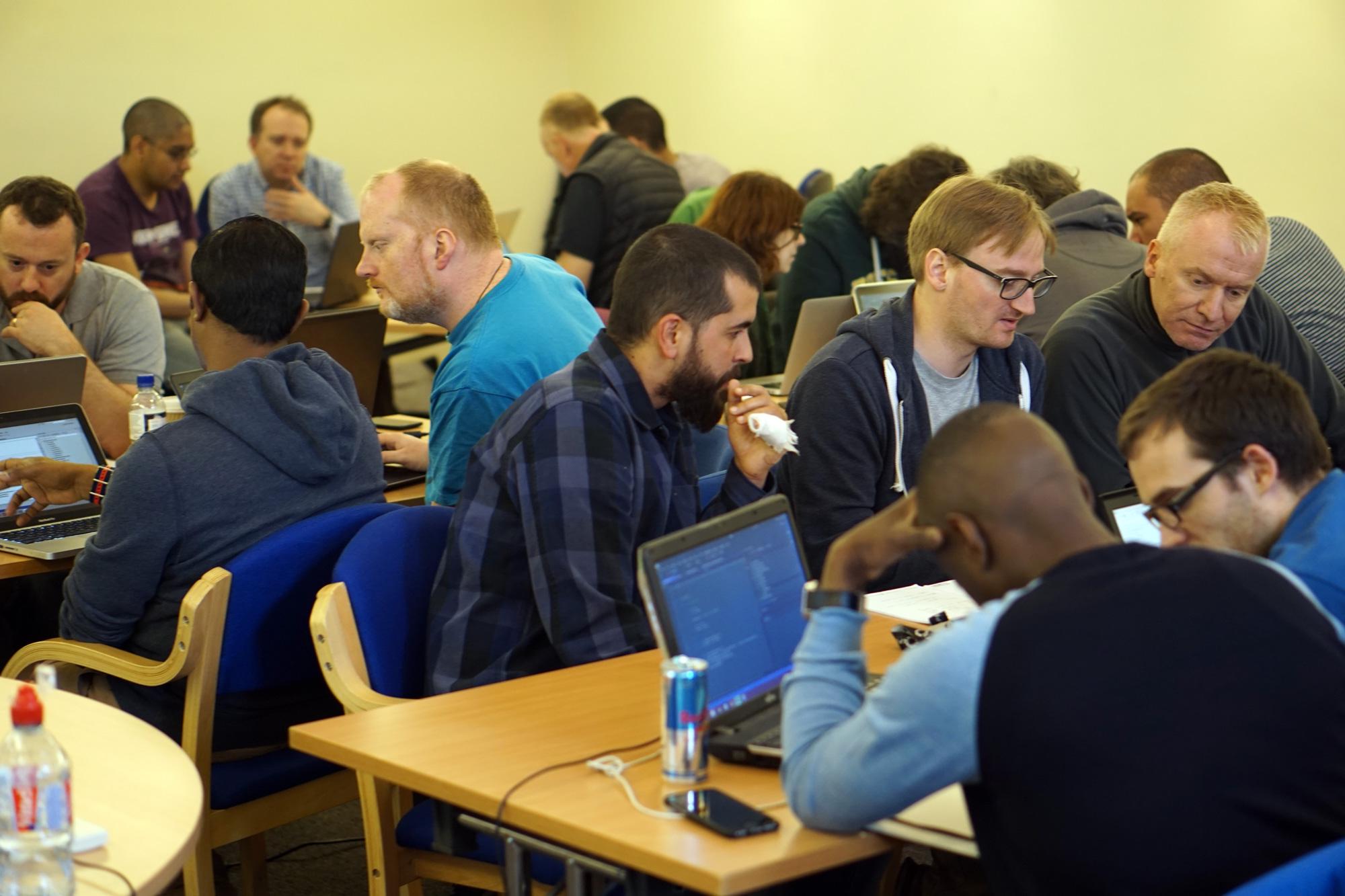 Folk doing coding