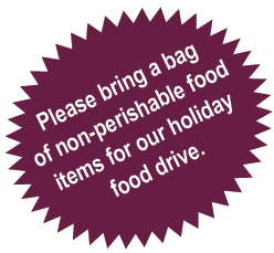Please Bring a Bag of Non-perishable Food Items