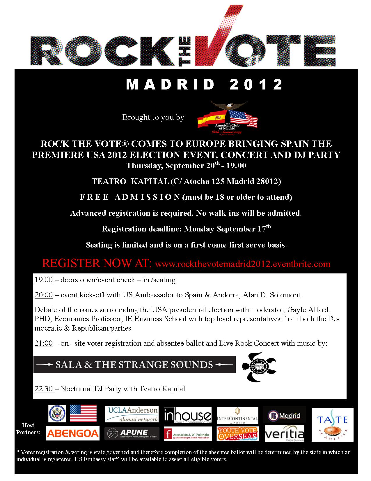 Rock the Vote in Madrid!