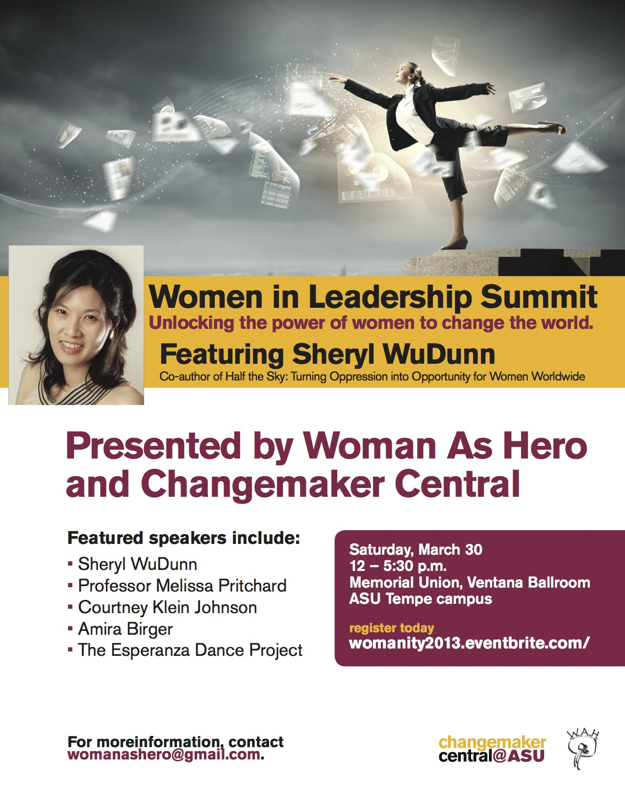 Official Flyer: Women in Leadership, Womanity 2013