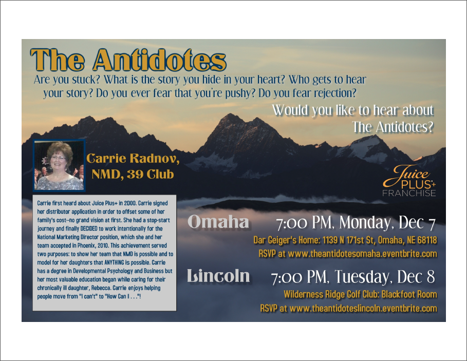 Own Your Life The Antidotes Lincoln Ne Tickets Tue