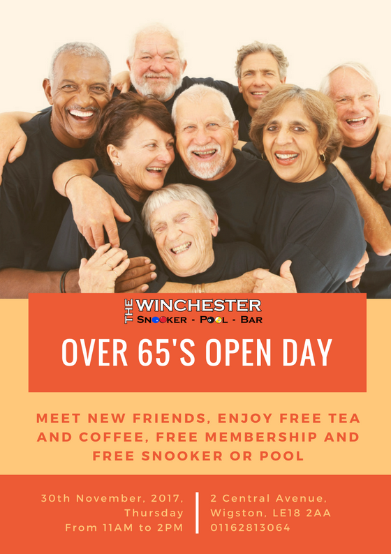 Over 65's Open Day flyer
