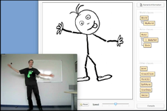 Greenfoot can be used with the Kinect tool!