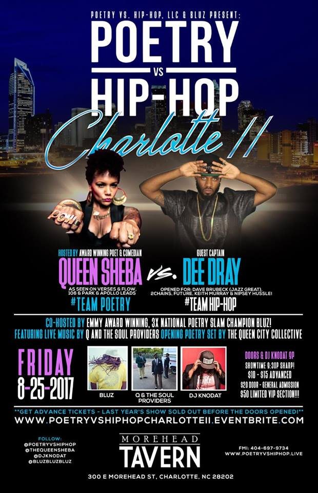 Poetry vs. Hip-Hop Charlotte II! Tickets, Fri, Aug 25, 2017 at 9 ...