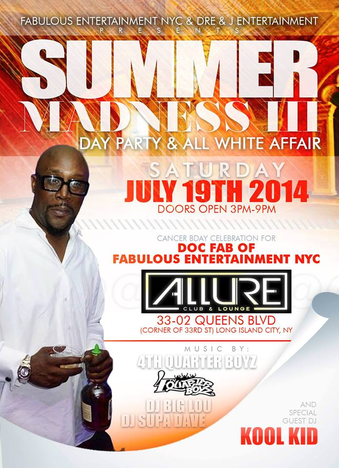 Summer Madness III Day Party & All White Affair
