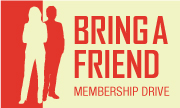 graphic of people and Bring A Friend logo