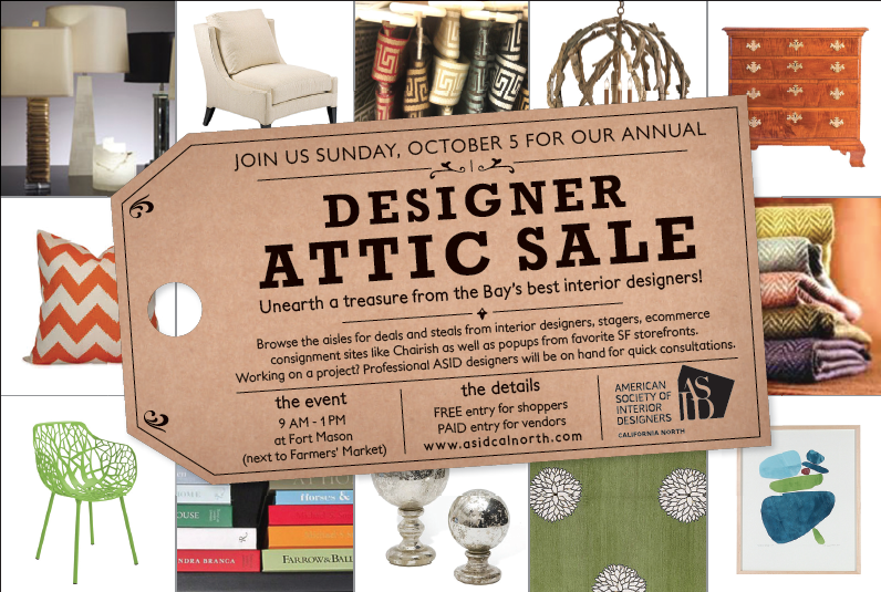 ASID Designer ATTIC SALE with interior design items, chairs, lamps, tables, sofas, collectibles