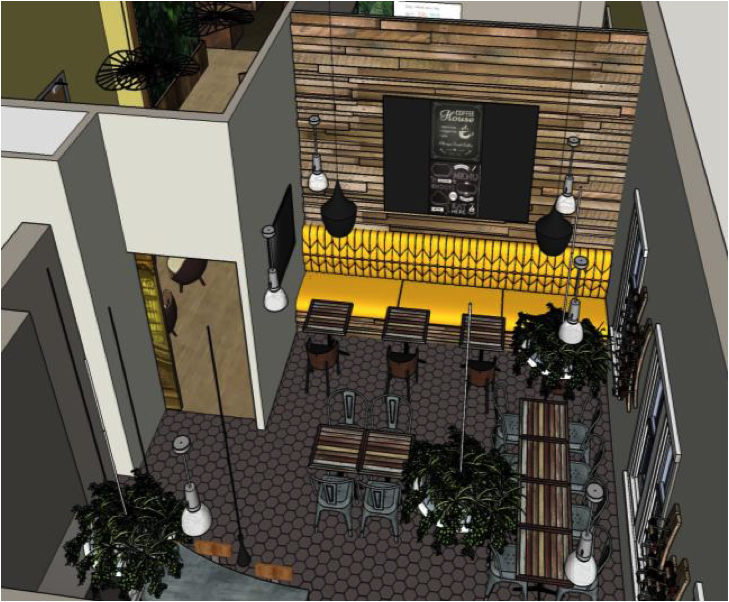 graphic of SketchUp bar design