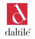 logo of daltile in red on white background