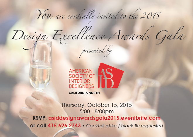 invitation to Design Excellence Awards Gala 2015