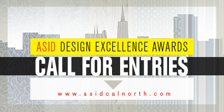 outline of city with textural layers: ASID Design Excellence Call for Entries Graphic