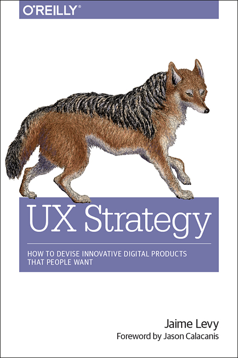 UX Strategy Book by Jaime Levy O'Reilly Media Author