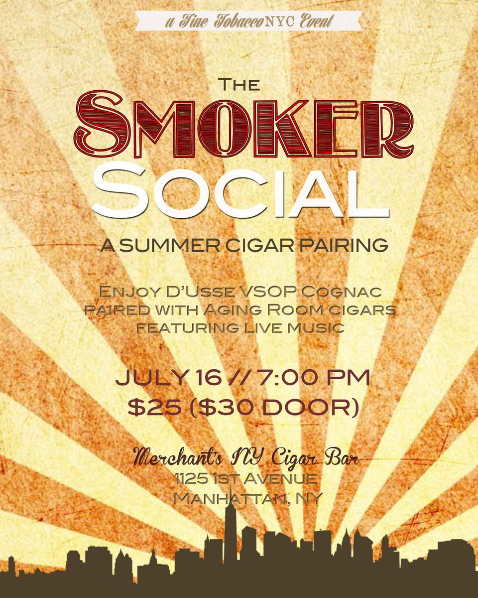 Post image for Event Invite: The Smoker Social Featuring Aging Room Cigars and D'usse VSOP Cognac