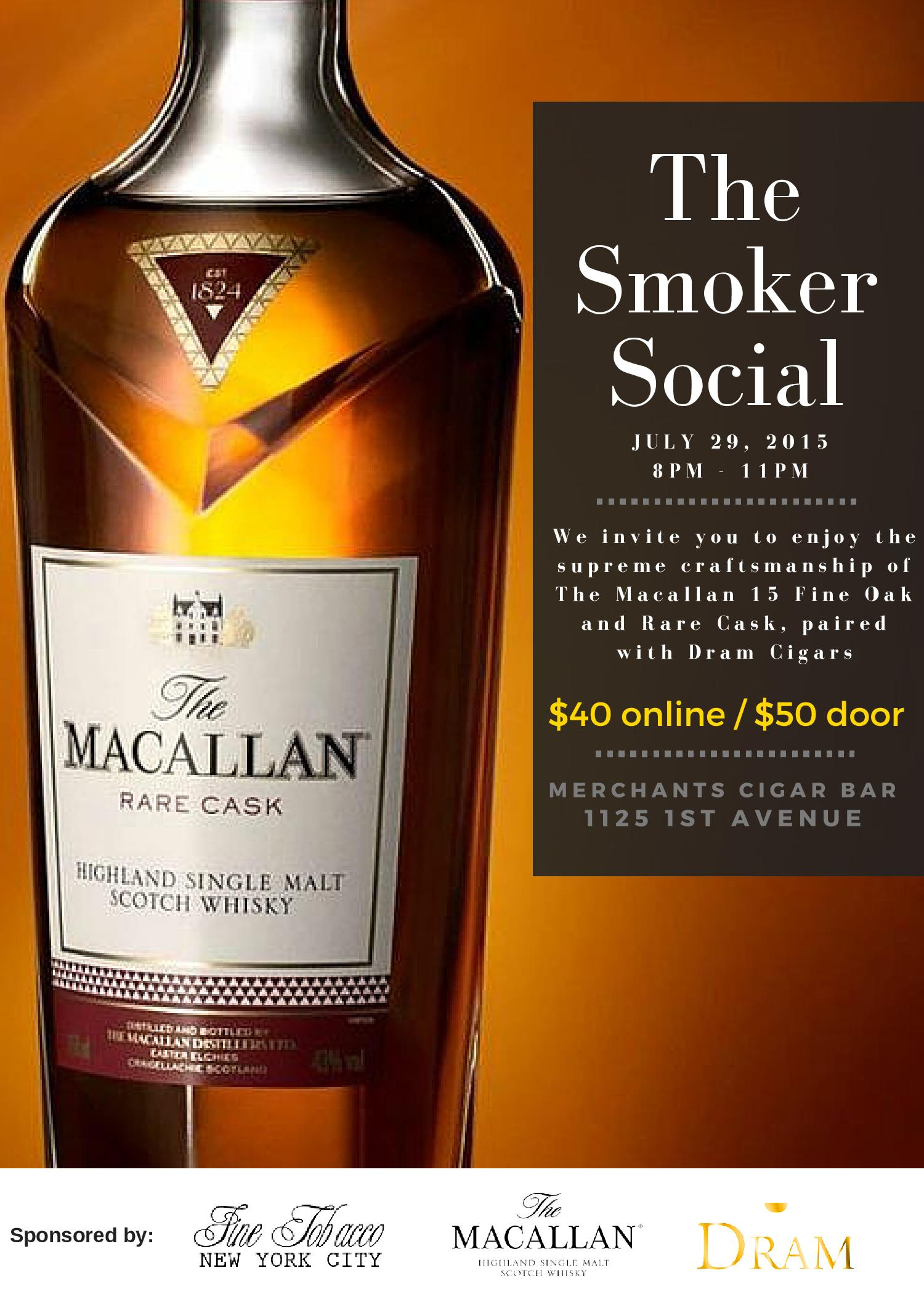 Post image for Event Invite: Straight Up & Toasted Feat. The Macallan and Dram Cigars