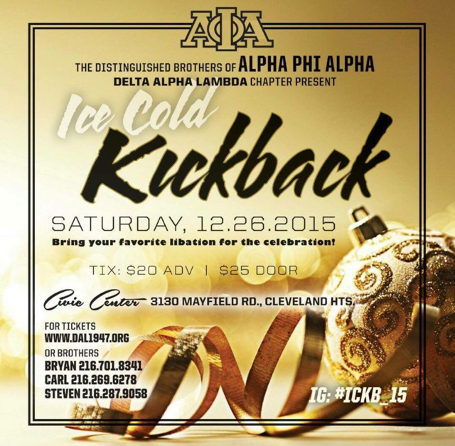 Ice Cold Kickback 2015 Tickets Sat Dec 26 2015 At 8 00