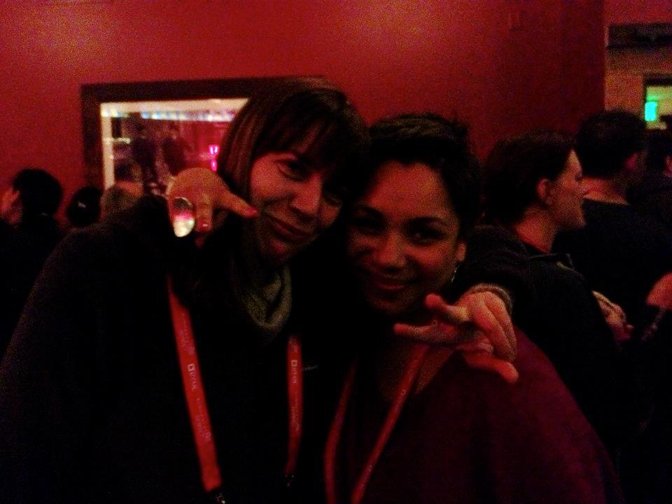 Brenda and Jen cheesing at Sundance