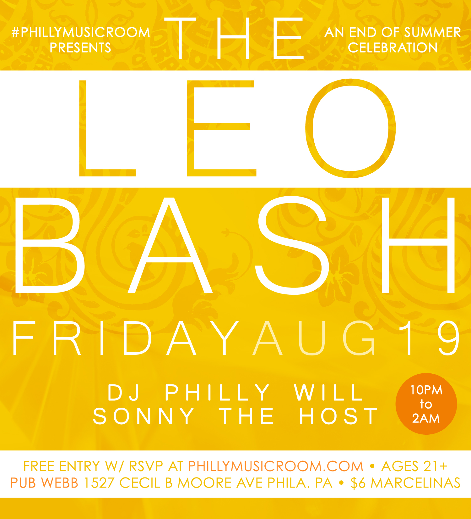 Philly Music Room Presents THE LEO BASH