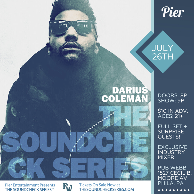 THE SOUNDCHECK SERIES: Darius Coleman