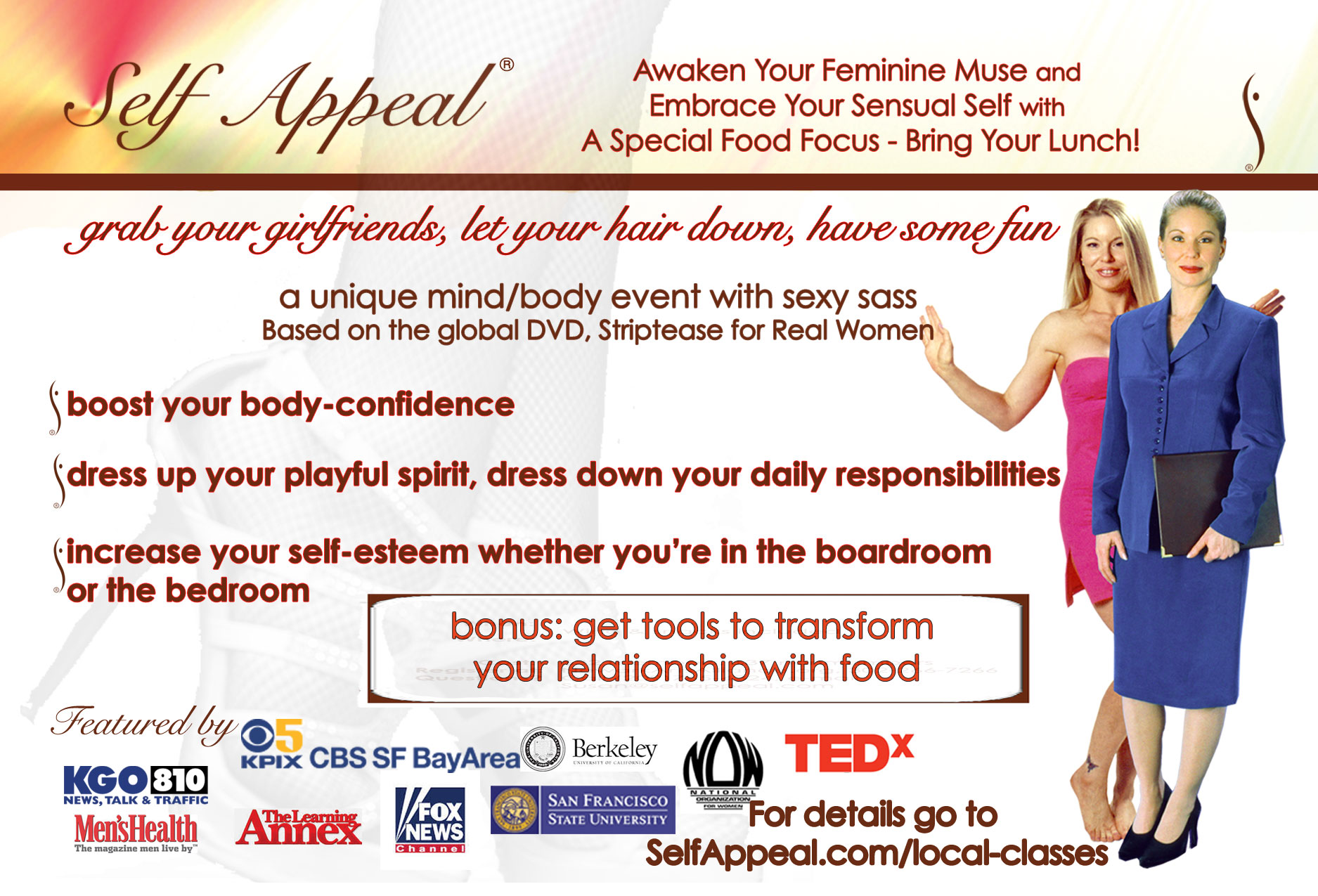 Self Appeal Awaken Your Feminine Muse with Food Event