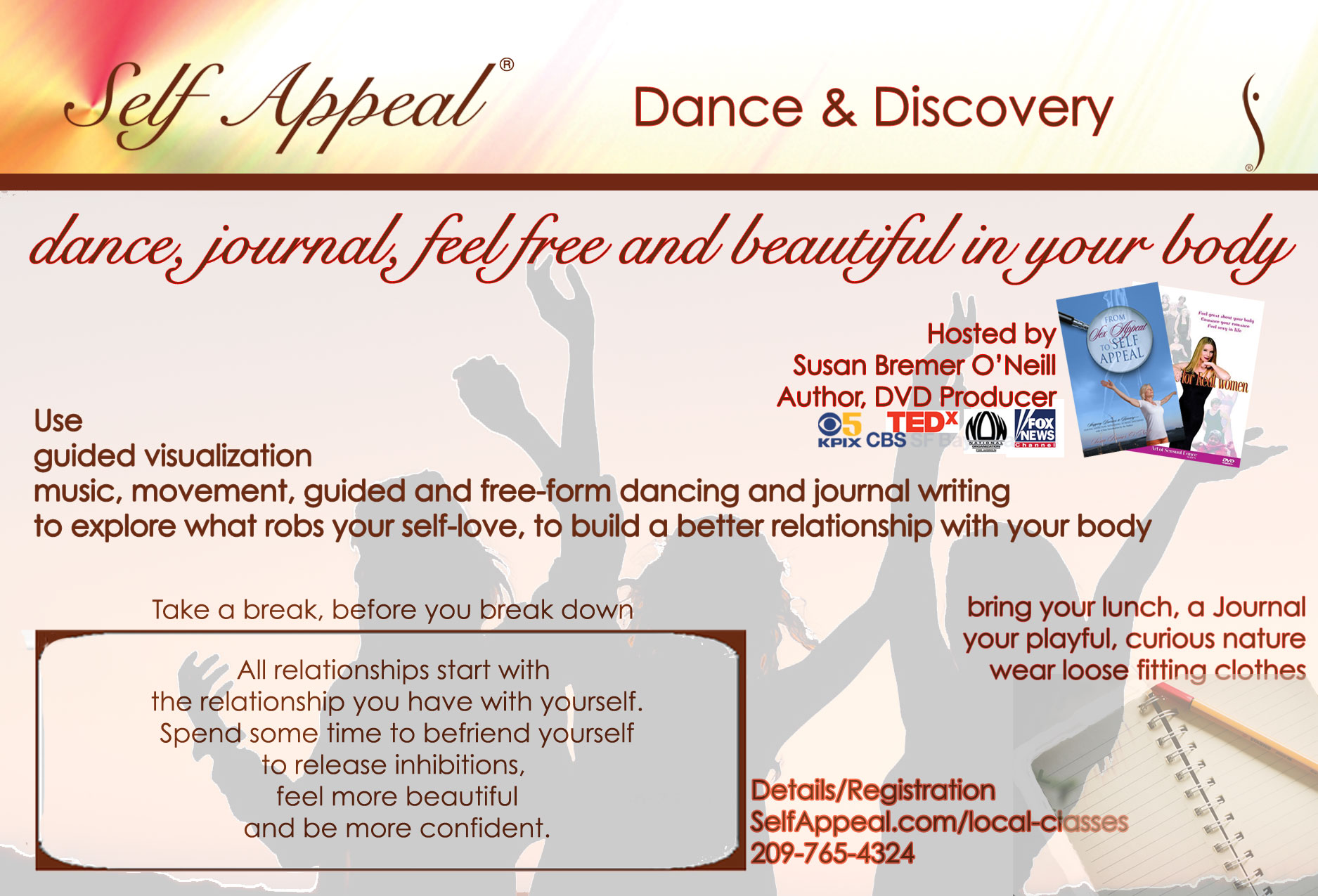Self Appeal Dance & Discovery class details at SelfAppeal.com