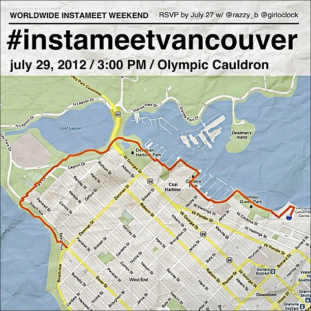#instameetvancouver map and details