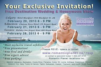 Free Destination Wedding and Honeymoon Show