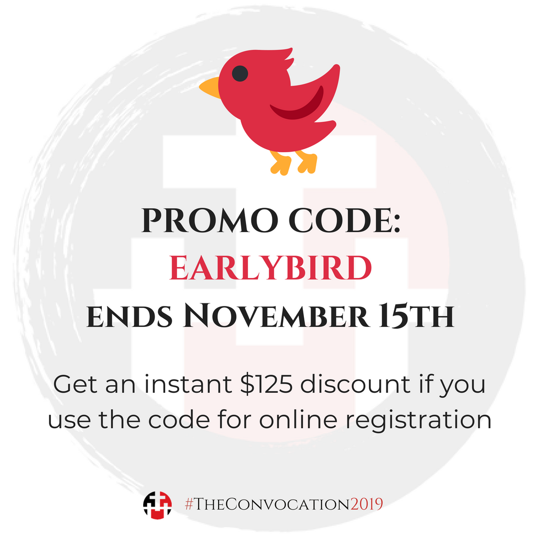 Promo Code: EARLYBIRD for $125 Discount Online Registration