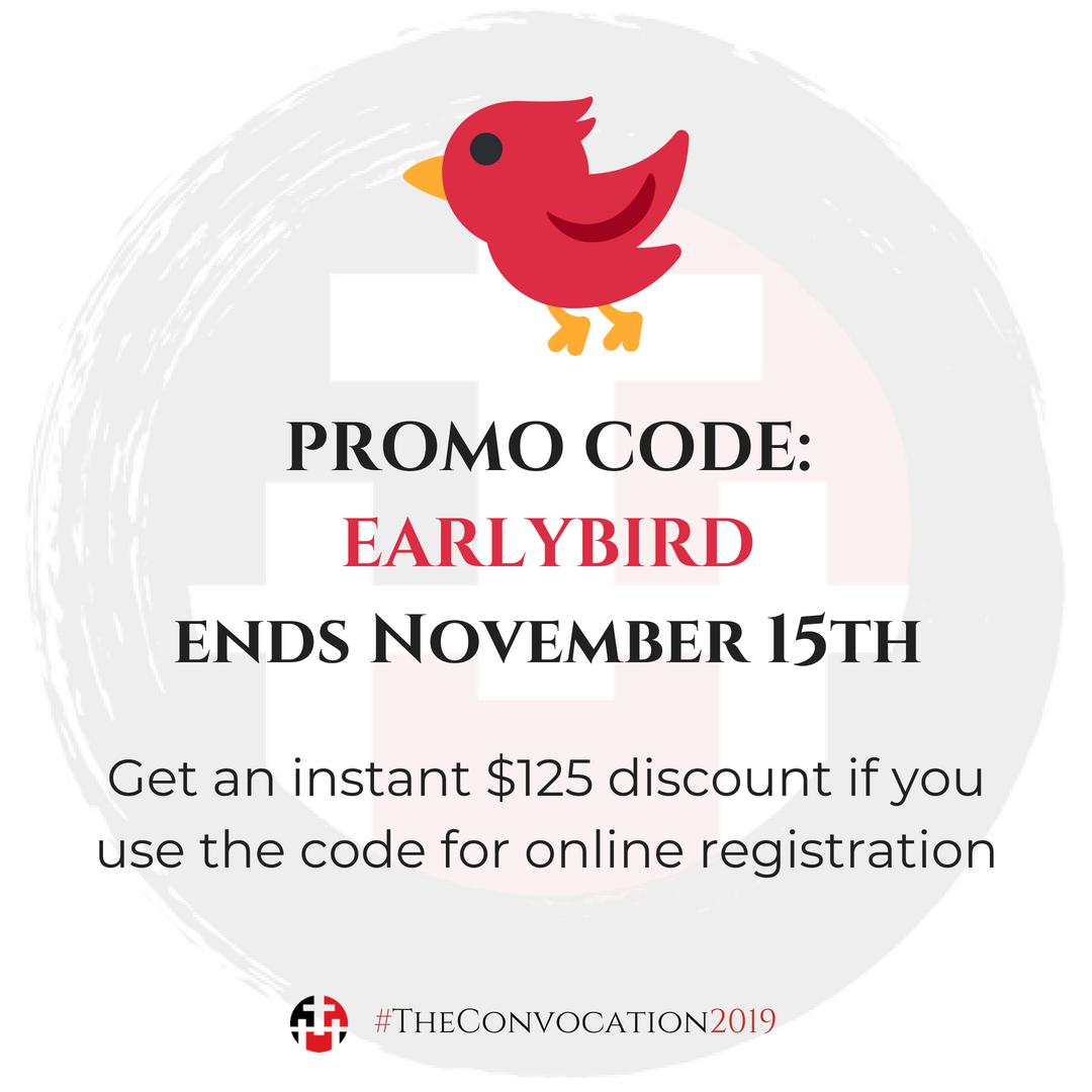 Promo Code: EARLYBIRD for $125 Discount Online Registration