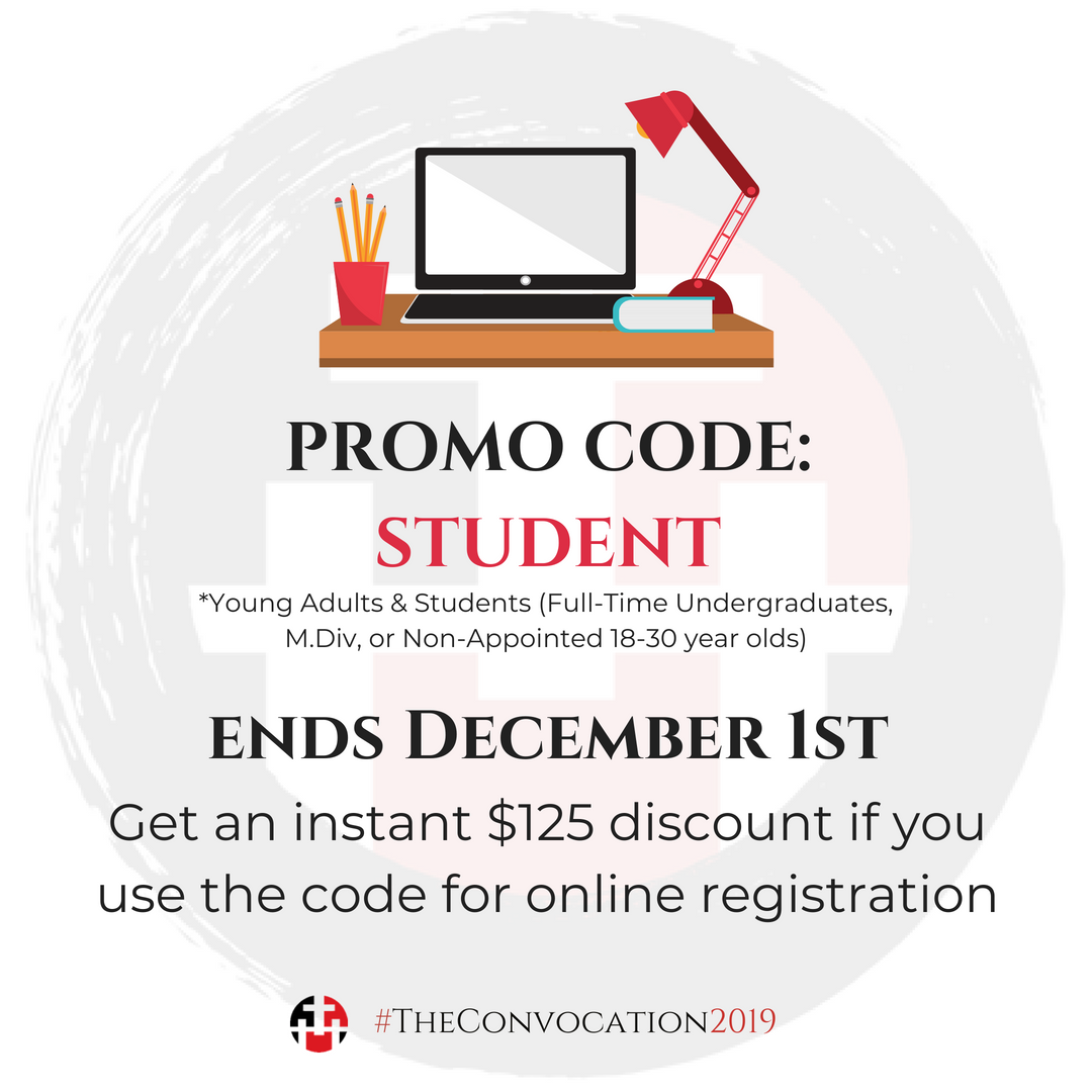 Promo Code: STUDENT for a $125 Discount on Online Registration