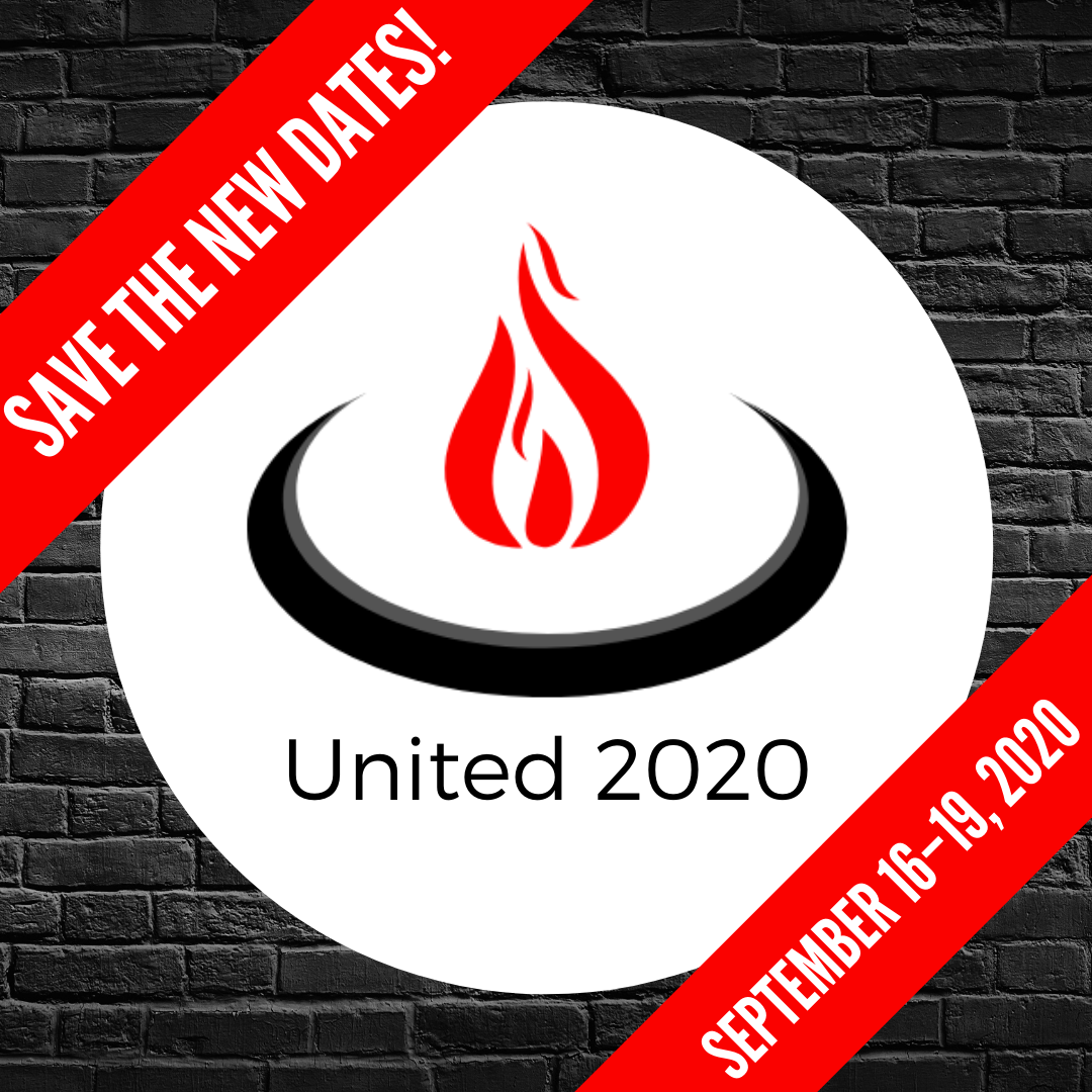 New Event Dates are September 16-19, 2020.