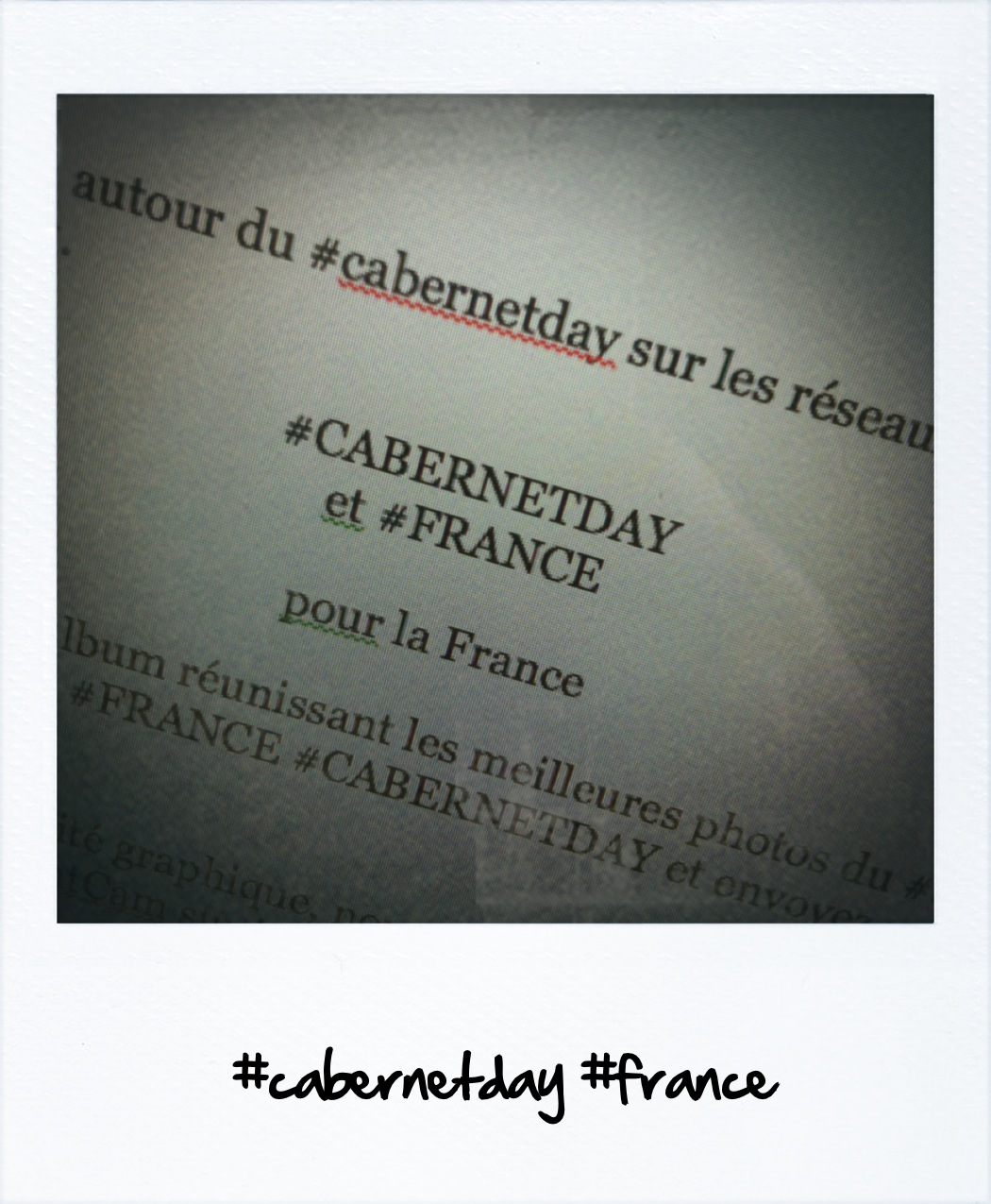 mise en forme photo #cabernetday