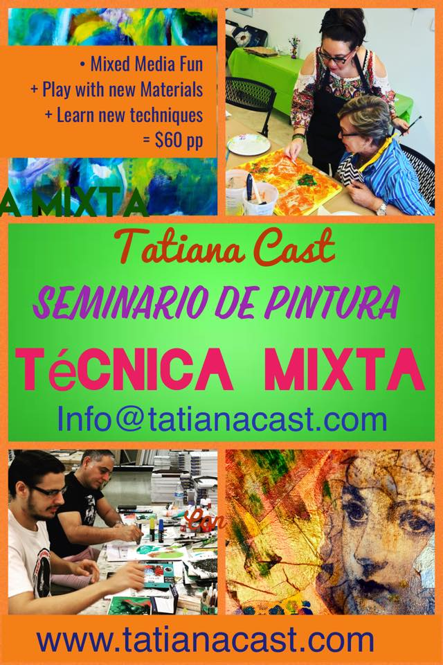 Mixed Media Painting Class with Tatiana Cast