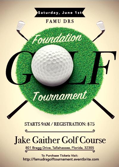 FAMU DRS Golf Tournament Flyer
