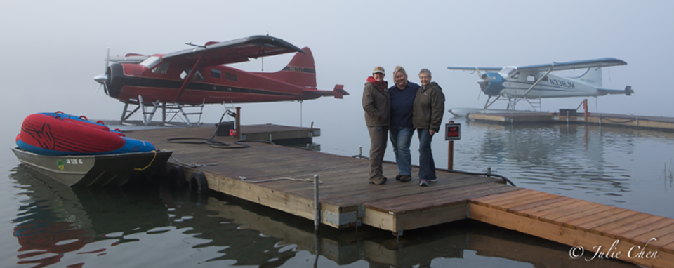 Two Float-Planes with three participants on the Magic of Alaska Photography Workshop and Tour