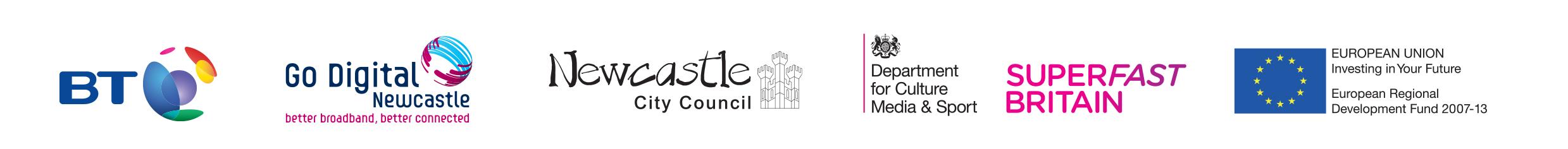 Go Digital Newcastle logos