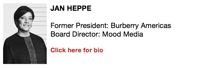 Jan Heppe, Former President, Burberry Americas