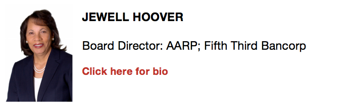 Jewell Hoover, Board Director: AARP; Fifth Third Bancorp