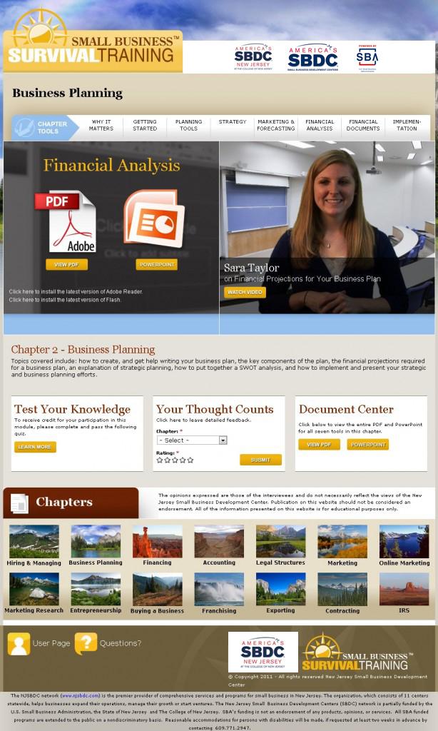 Training Website Screenshot