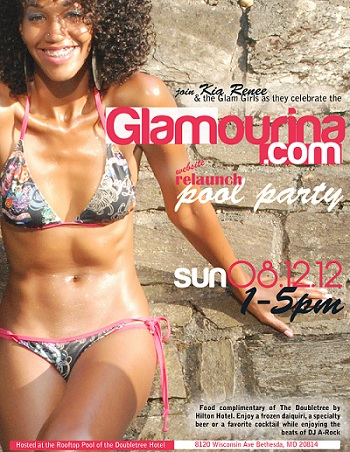 Glamourina Relaunch Party Flyer