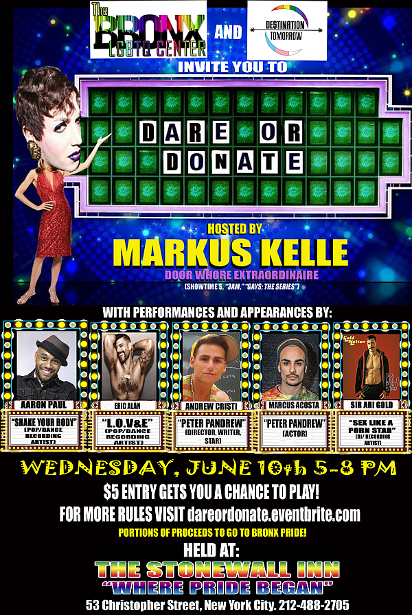 Dare or Donate fundraising event flyer