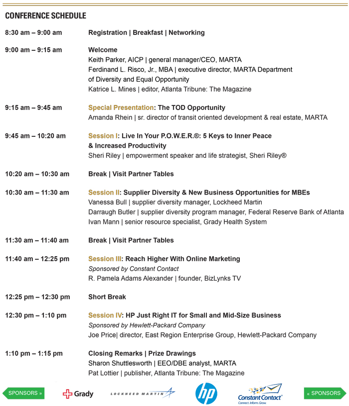 2015 MYBF Agenda