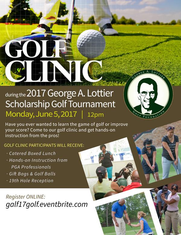 2017 George A. Lottier Golf Clinic