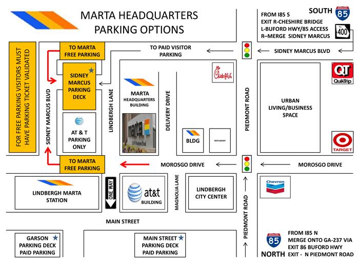 Marta Parking Map